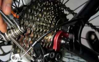 Установка заднего переключателя скоростей на велосипеде