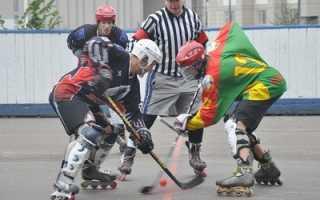 Коньки роликовые хоккейные