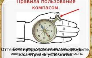 Что означают буквы на компасе