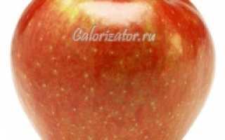 Калорийность одного яблока