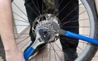 Как снять кассету с велосипеда без съемника