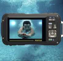 Экшн камера под водой