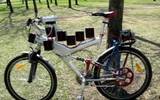 Велосипед с двигателем от стиральной машины