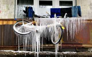 Можно ли хранить велосипед зимой на балконе