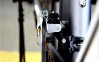 Регулировка переднего переключателя скоростей