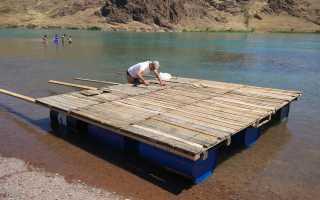 Плот для сплава по реке