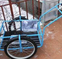Прицеп для велосипеда своими руками чертежи